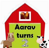 Baby Barnyard theme Welcome Poster/cutout