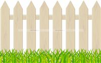 Barnyard theme White Picket Fence Cutout