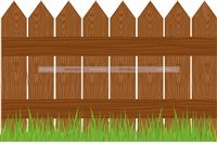 Barnyard theme Wooden Fence Cutout
