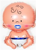 Pink & Blue  theme Baby Face Foil Balloon