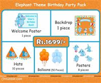 Baby Elephant theme  - Baby Elephant Theme Mini Party Pack