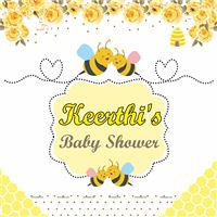 Sunshine BabyShower theme Bumble Bee Theme Baby shower backdrop