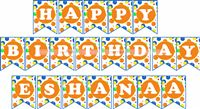 Ball Party Supplies theme Happy Birthday Banners
