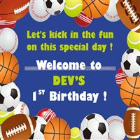 Ball Party Supplies theme Welcome Poster
