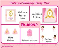 Ballerina theme  - Ballerina Theme Mini Party Pack