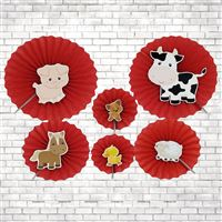 Barnyard theme  - Barnyard Paper Fan decorations