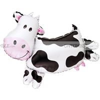Barnyard Birthday theme Cow Foil Balloon
