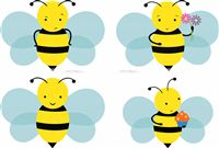 Bumble Bee theme Cute posters