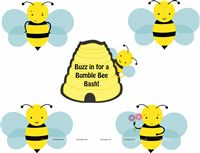 Bumble Bee birthday theme Posters pack of 5