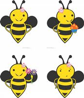 Pretty bumble bee cutouts