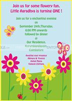 Butterfly Birthday theme Party Invitation