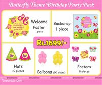 Butterfly Birthday theme Butterfly Theme Mini Party Pack