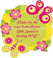 Butterfly Birthday theme Welcome Cutout