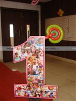 Candy Land theme Baby photo collage