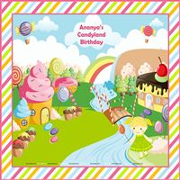 Candy Land theme Girl Backdrop