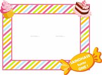 Candy Land Photo Booth Frame