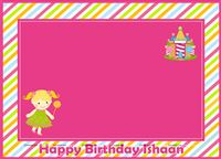 Placemats - Candyland theme birthday party supplies & decorations