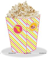 Popcorn Cones - Candy theme birthday party supplies | Candy land decorations