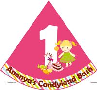 Candy Land theme No 1 Birthday hats