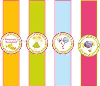 Candy Land theme Multicolored wrist bands