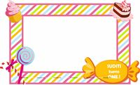 Candy Land theme Photo Booth Frame