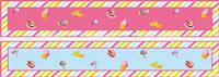 Candy Land theme Pink & Blue Table runners