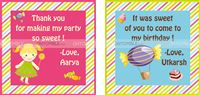 Candy Land theme Pink & Blue Thank you cards