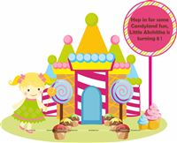 Candy Land theme Girl Welcome banner