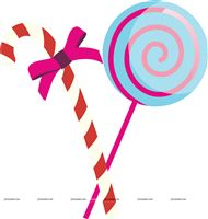 Candy Land theme Candy stick poster
