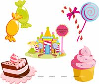 Candy Land theme Posters pack of 5
