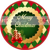 Christmas Decorations theme Christmas Candle favour tags