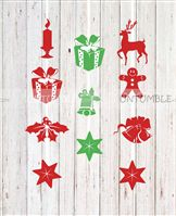Christmas Decorations theme Christmas elements Danglers ( Set of 3 lengths as displayed)