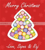 Christmas theme  - Christmas favour tags