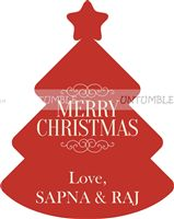 Christmas Decorations theme Christmas favour tags