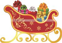 Christmas theme Christmas Gift Cart
