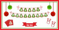 Christmas Decorations theme Christmas Party Pack (17 pc set)