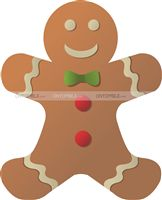 Christmas theme Ginger Bread Man