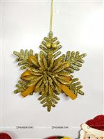 Gold Christmas Snow flake dangler