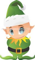 Christmas Decorations theme Green Elf Cutout