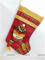 "9"" Christmas Snowman stocking"