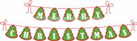 Christmas theme Merry Christmas Bunting