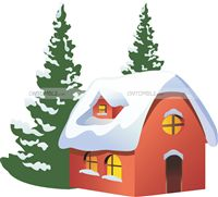 Christmas Decorations theme Snow House