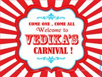 Circus theme  - Circus Welcome Board