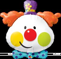 "Circus theme Cute Clown Foil Balloon (36"")"