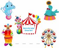 Circus theme Posters pack of 5