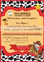 Cowboy Rectangular invite
