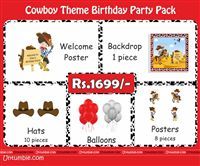 Cowboy theme Cowboy Theme Mini Party Pack