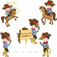 Cowboy theme Posters pack of 5