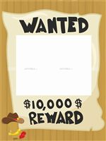 Wanted Reward Frame  - Photo Shoot