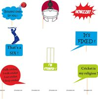 Cricket Birthday theme Cricket Photo Prop (8 piece set)